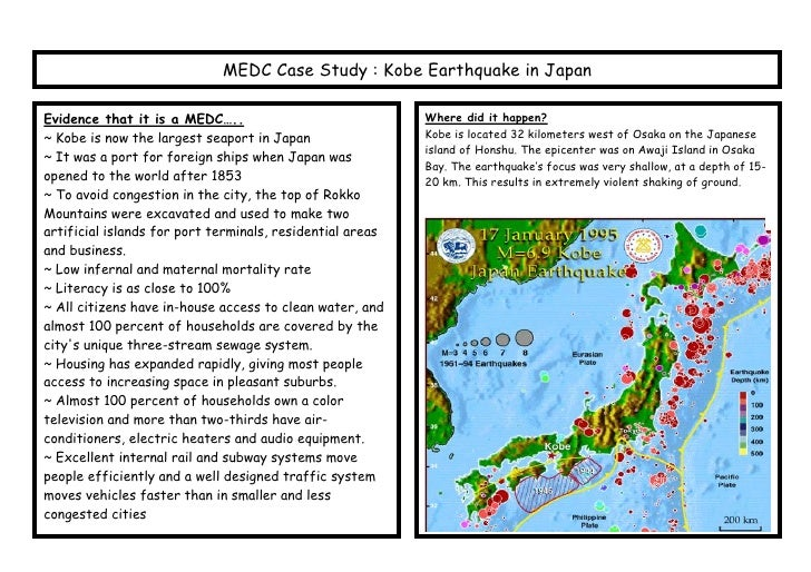 medc earthquake case study a level