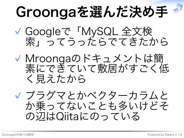 Groongaの今後への期待 Slide 3