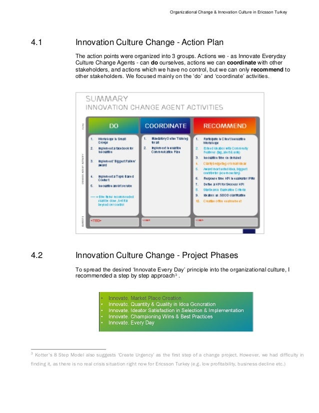 Five companies and the organizational culture of innovation and change essay