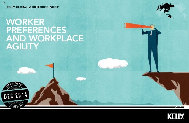 KELLY GLOBAL WORKFORCE INDEX® DEC 2014 2 30,000 PEOPLE 3 1 C O U N T R I E S WORKER PREFERENCES AND WORKPLACE AGILITY