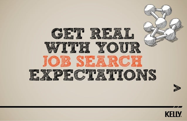 get reaL with your job search expectations