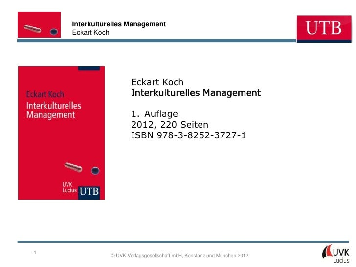 Interkulturelles Management    Eckart Koch                       Eckart Koch                       Interkulturelles Manage...