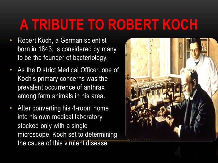 kochs postulates Koch the etiology of tuberculosis [koch's postulates] 117 this second animal always died of an- thrax and its blood contained the characteristic rods, the so-called an.