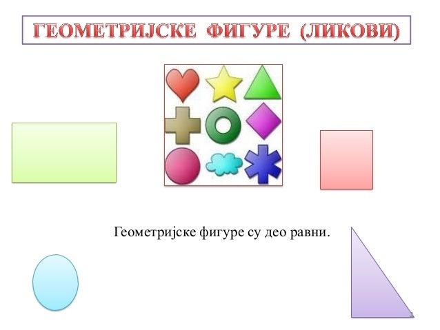 Геометријске фигуре су део равни.2