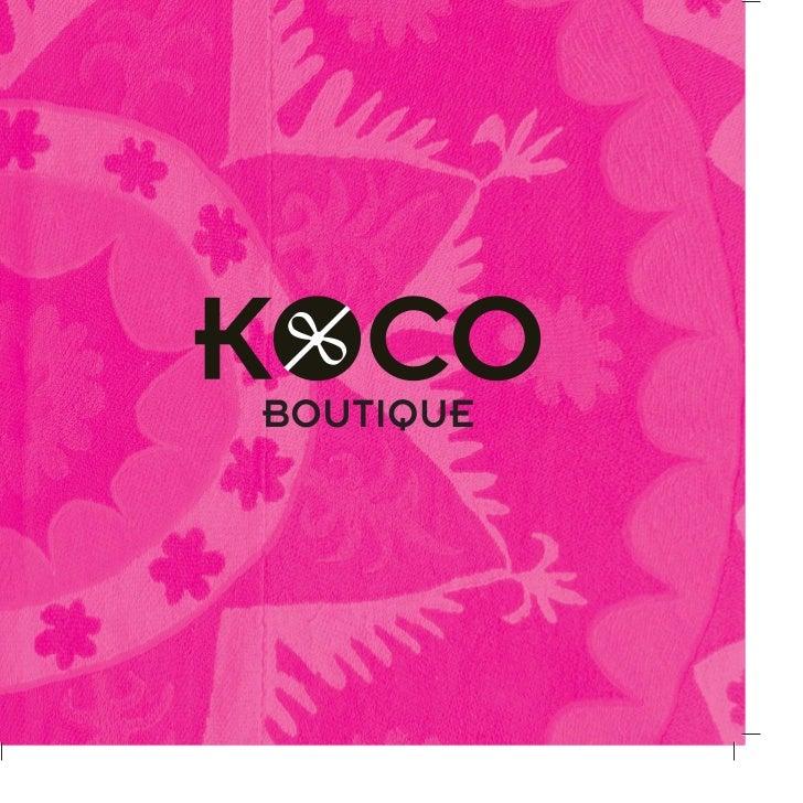 brochure design for boutiques - koco boutique brochure