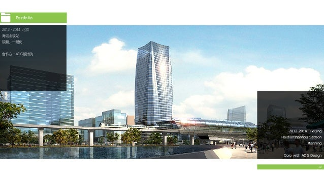 10 2012-2014. Beijing Haidianshanhou Station Planning Corp with ADG Design 2012﹣2014 北京 海淀山後站 規劃、一體化 合作方:ADG設計院 Portfolio