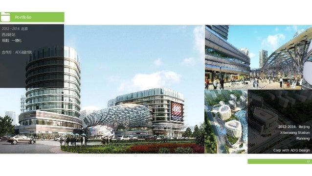 12 2012-2014. Beijing Xibeiwang Station Planning Corp with ADG Design 2012﹣2014 北京 西北旺站 規劃、一體化 合作方:ADG設計院 Portfolio