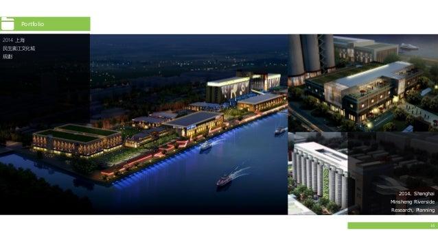 16 Portfolio 2014 上海 民生濱江文化城 規劃 2014. Shanghai Minsheng Riverside Research, Planning