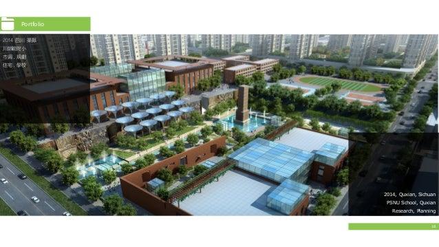 18 Portfolio 2014 四川 渠縣 川師範附小 市调,規劃 住宅,學校 2014, Quxian, Sichuan PSNU School, Quxian Research, Planning