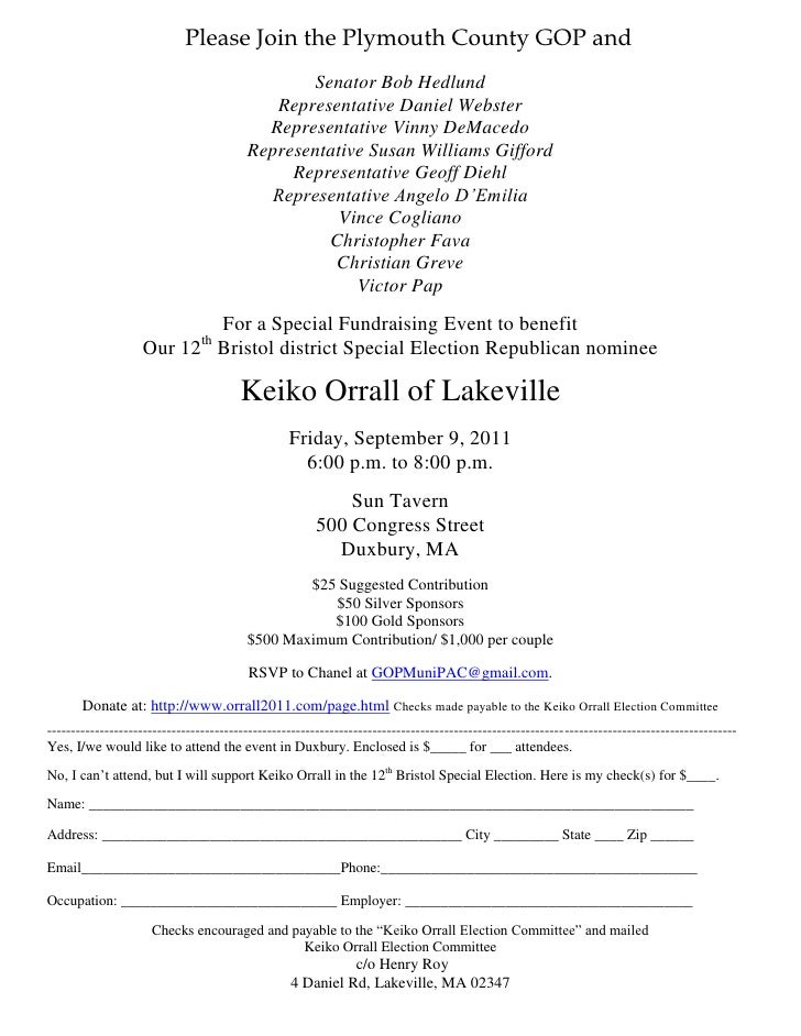 Please Join the Plymouth County GOP and                                                Senator Bob Hedlund                ...