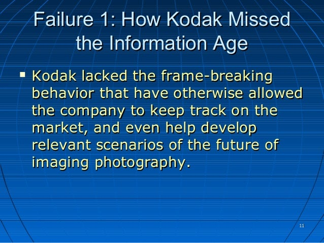 why kodak failed and how Kodak's declaration of bankruptcy earlier this month closed a glorious chapter in the history of photography kamal munir of the cambridge judge.