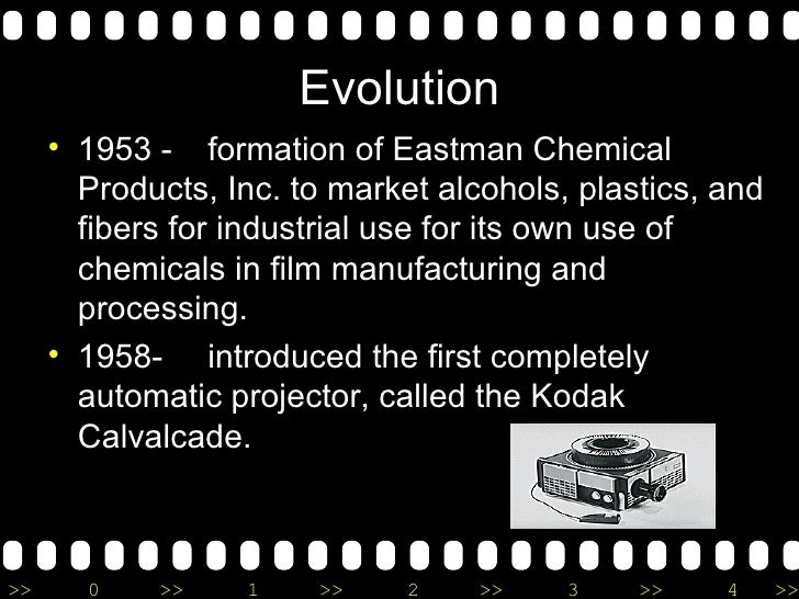 Evolution <ul><li>1953 - formation of Eastman Chemical Products, Inc. to market alcohols, plastics, and fibers for industr...