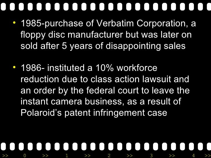 <ul><li>1985-purchase of Verbatim Corporation, a floppy disc manufacturer but was later on sold after 5 years of disappoin...