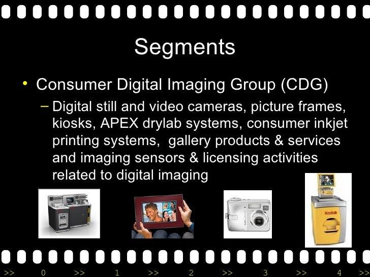 Segments <ul><li>Consumer Digital Imaging Group (CDG) </li></ul><ul><ul><li>Digital still and video cameras, picture frame...