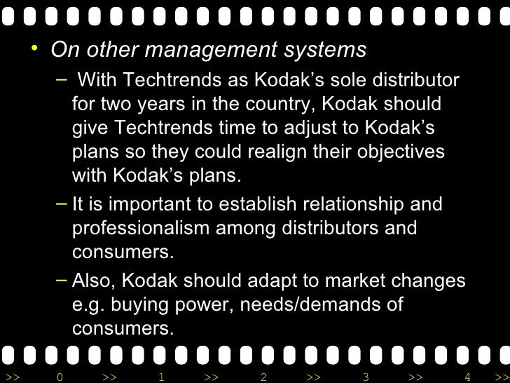 <ul><li>On other management systems </li></ul><ul><ul><li>With Techtrends as Kodak's sole distributor for two years in the...