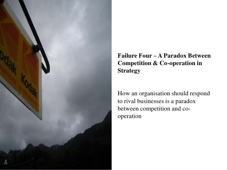Failure Four – A Paradox Between Competition & Co-operation in StrategyHow an organisation should respond to rival busines...