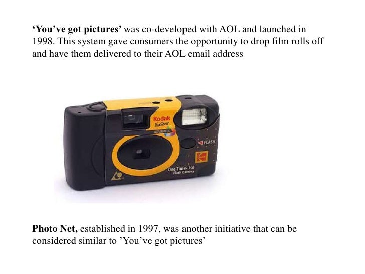 'You've got pictures' was co-developed with AOL and launched in 1998. This system gave consumers the opportunity to drop f...