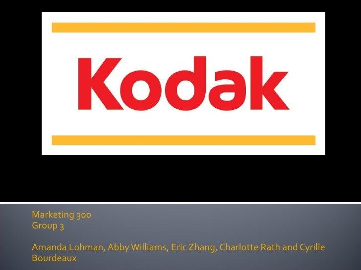 Eastman Kodak and Fujifilm Company