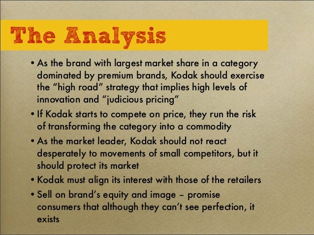 cost leadership kodak Another example of failed leadership is that of kodak successful  no doubt  p&g's stock price — which has doubled, from us$30 to $60 per share, since.