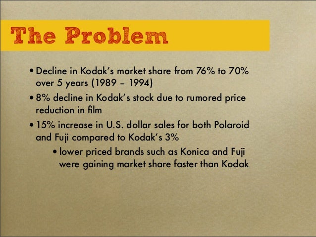 case study on kodak In the 2nd part of this case study video, dr bindra delves in detail that how despite a long available window of 10 years to change, adapt and shift, how ko.