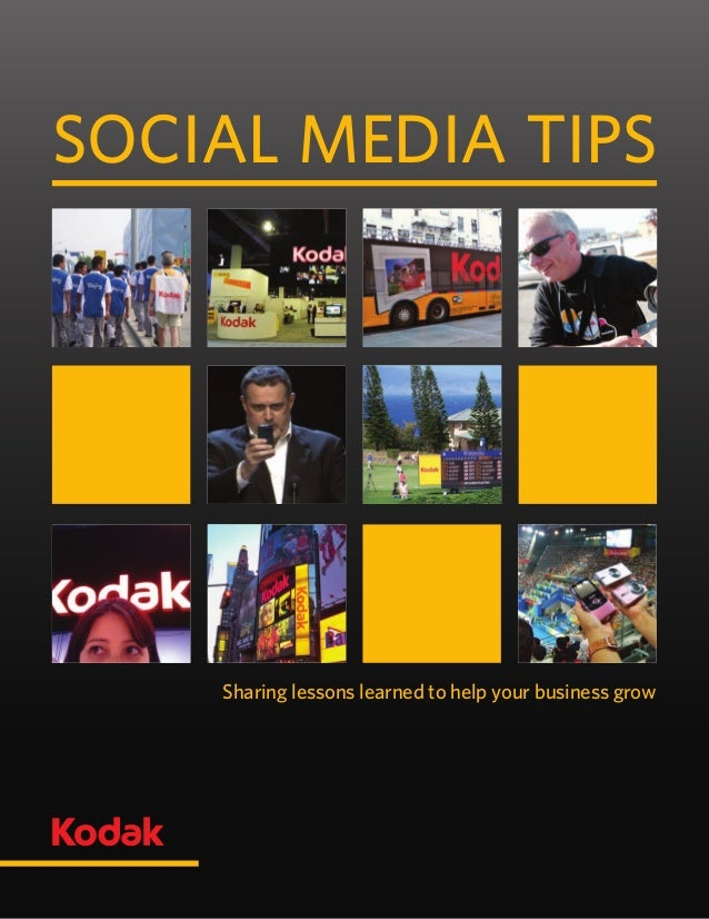 Sharing lessons learned to help your business grow Social media tips