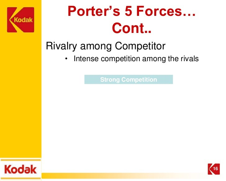 Potters five forces model in eastman kodak