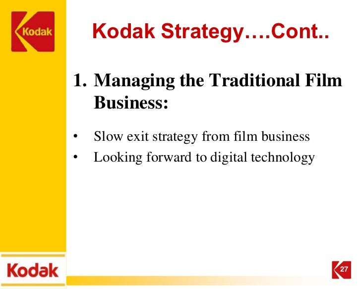 kodak digital imaging strategy What is kodak's current position in digital imaging would kodak's position be different had the company adopted a different digital imaging strategy in the.