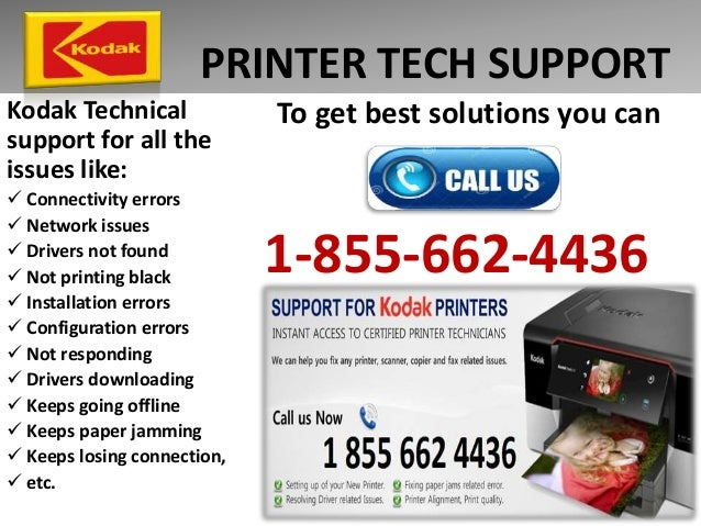 1 855 662 4436 kodak printer technical support printer not working