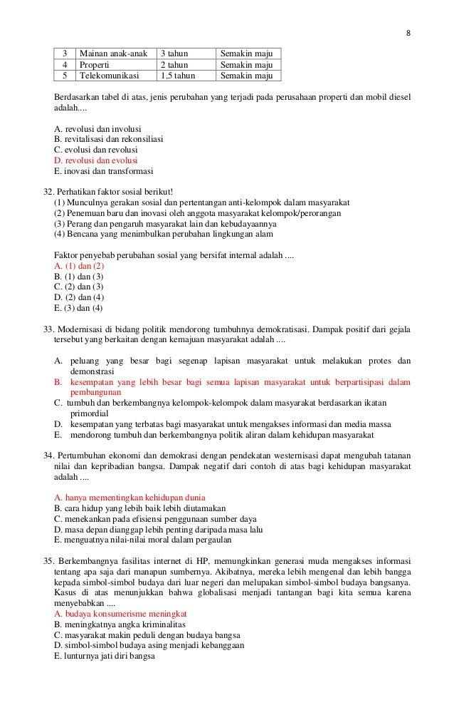 Kunci Prediksi Soal Un Sosiologi Kode B Tahun 2013