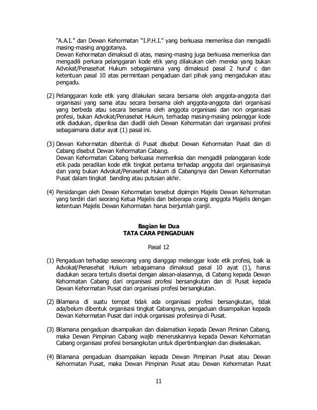 Contoh Surat Pengaduan Pelanggaran Kode Etik Advokat Kumpulan Surat Penting