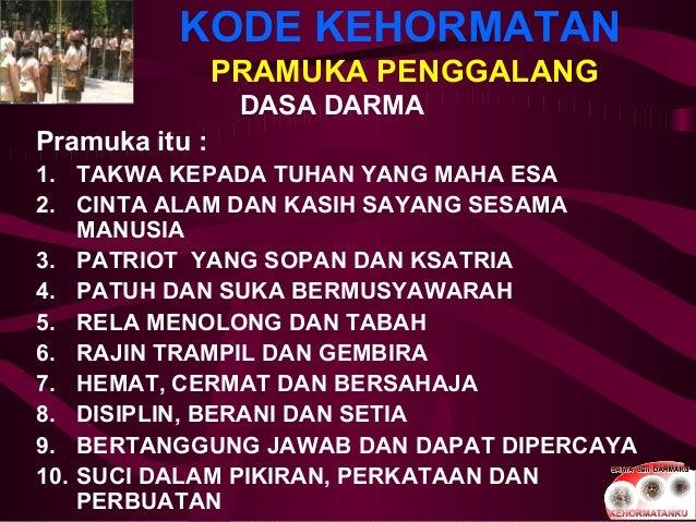 Presentasi Kode kehormatan Pramuka