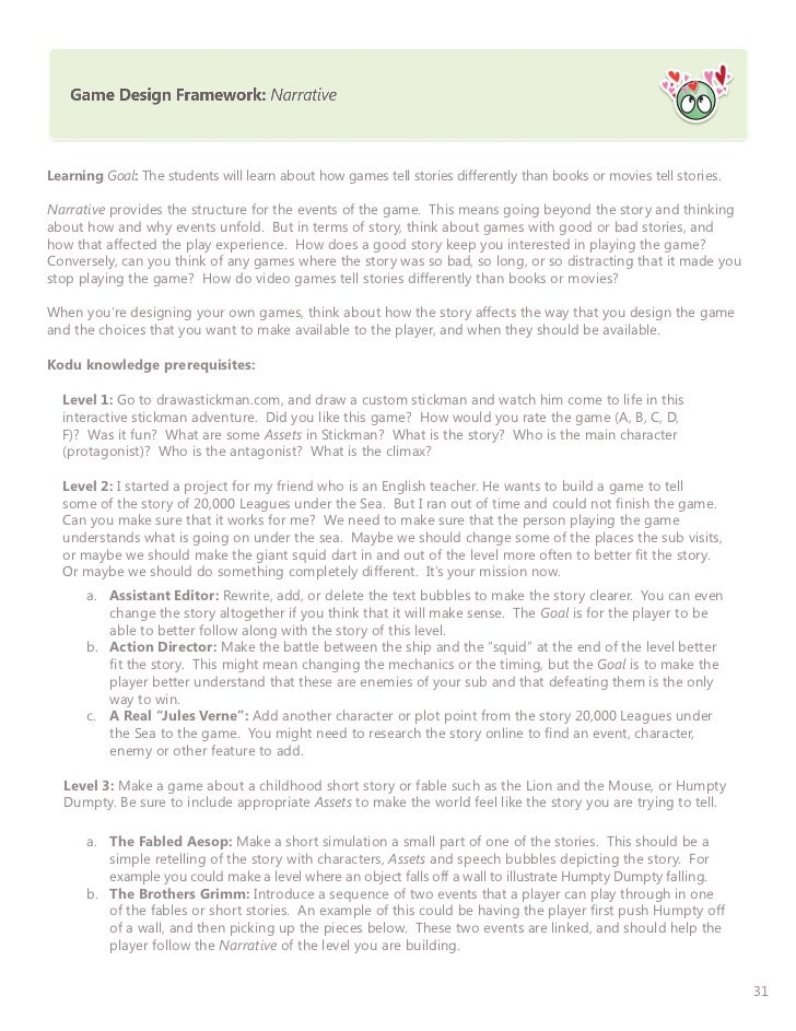 Printable Worksheets the mouse and the motorcycle worksheets : Kodu curriculum doc