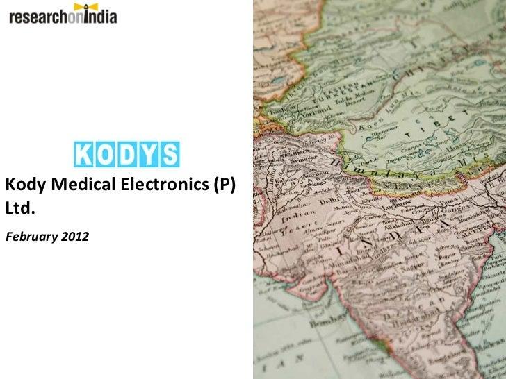 Kody Medical Electronics (P)Ltd.February 2012