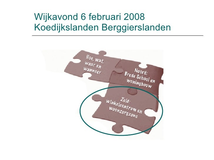 Wijkavond 6 februari 2008 Koedijkslanden Berggierslanden