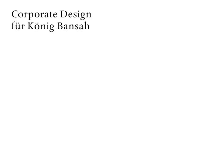 Corporate Design für König Bansah