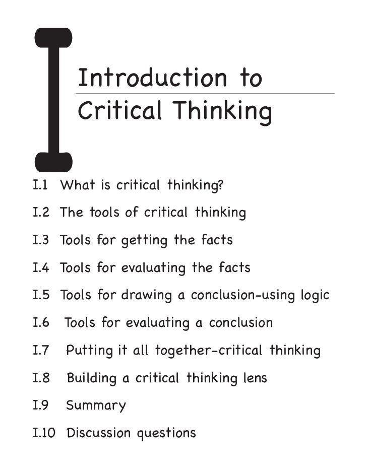 Critical thinking essay sample