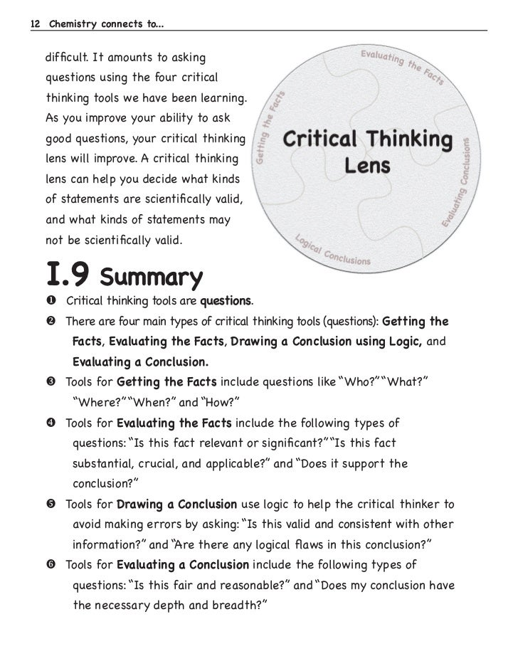case for critical thinking essay
