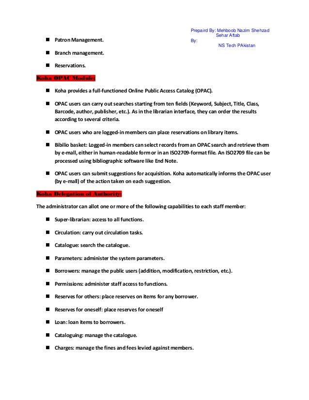 koha 3 library management system pdf
