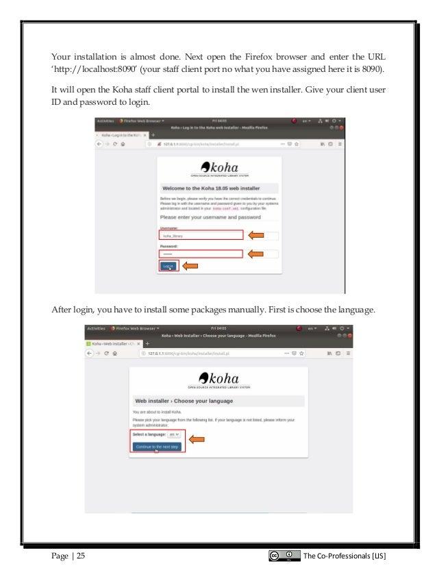 Koha Complete Manual in Ubuntu 18 04