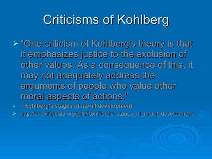 carol gilligan criticism of kohlberg Gender: androcentrism  find out about the work of carol gilligan on moral development  • what was gilligan's criticism of kohlberg's work.