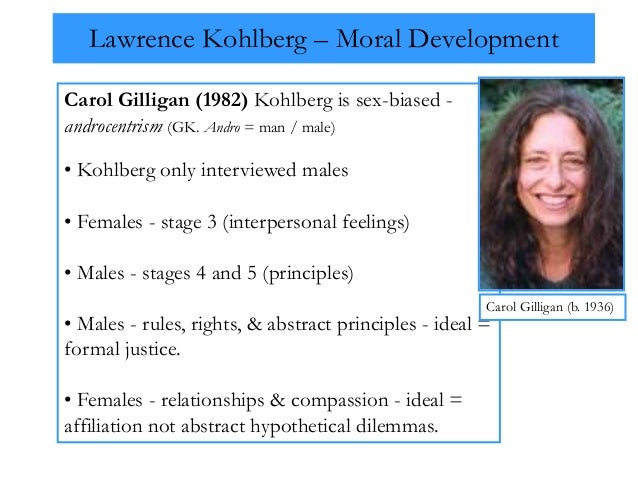 kohlberg and carol gilligans theories Theory and women's development (8583210654338): carol gilligan: books   kohlberg, gilligan's teacher) stereotypes, all of which inhibit emotional,.