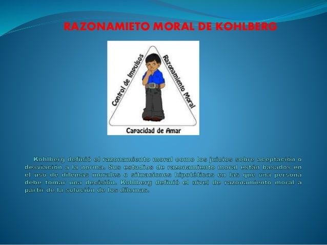 RAZONAMIETO MORAL DE KOHLBERG