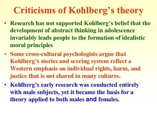 Kohlberg's moral development