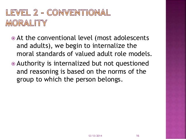 moral development 12 16 years