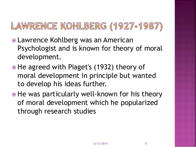 lawrence kohlbergs stages of moral development Although morality has been a topic of discussion since the beginning of human civilization, the scientific study of moral development did not begin in earnest until the late 1950s lawrence kohlberg (1927-1987), an american psychologist building upon jean piaget's work in cognitive reasoning, posited six stages of moral.