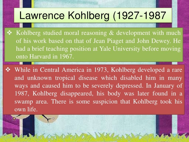 kohlberg u0026 39 s theory of moral development  final
