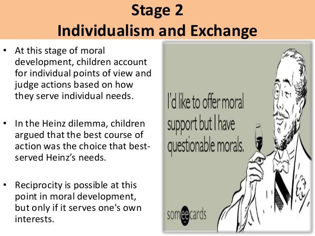 Kohlberg's theory on moral development
