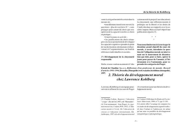 Extrait de Claudine LELEUX, Réflexions dun professeur de morale. Recueildarticles 1993-1994, Bruxelles, Démopédie (web.wan...
