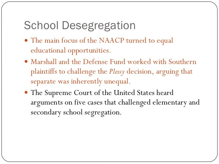 an argument on desegregation in 1954 Why was the brown case of 1954 such an important legal breakthrough warren went even further and accepted the whole of marshall's argument desegregation in.