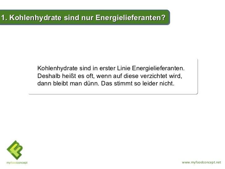 TOP 5 Wahrheiten über Kohlenhydrate Slide 2
